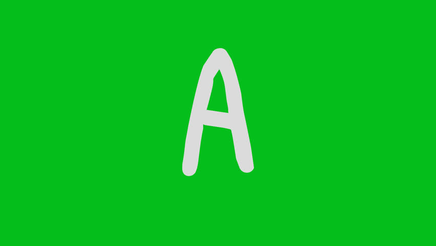 Animated Capital A Letter in Write on effect with alpha key | Shutterstock HD Video #1013466956