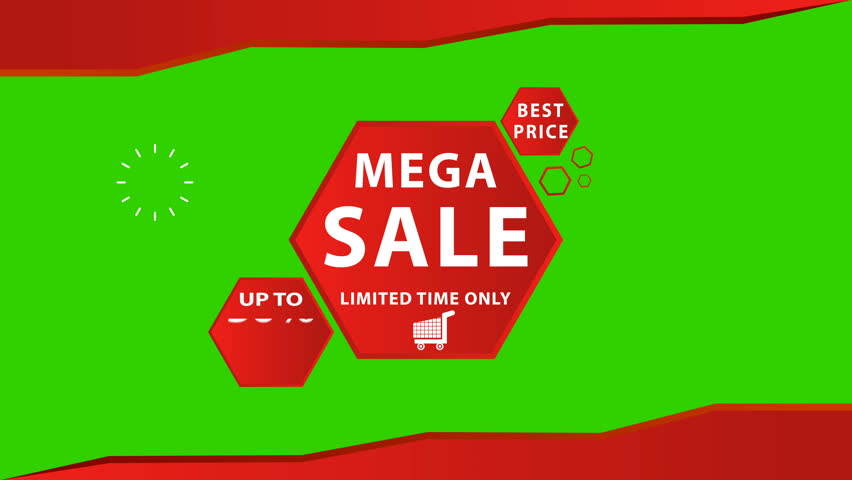 Mega Sale Limited Time only up to 50% off, Pack Title, Lower third, Transition, Logo and Background | Shutterstock HD Video #1013476046