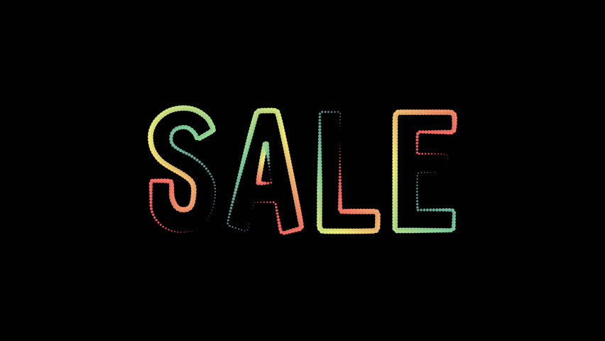 Sale motion poster, banner text. Big sale, clearance. Available in 4K FullHD video render footage | Shutterstock HD Video #1013477816