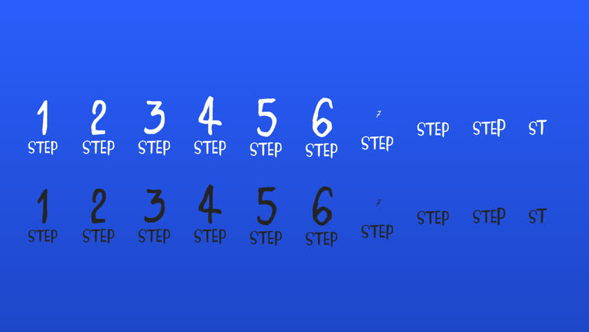Cool motion 1 to 10 number of steps with wiggle effect on alpha channel background. Available FullHD resolution