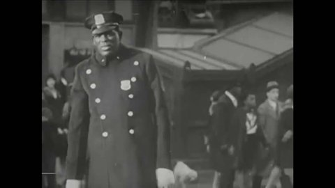 CIRCA 1940 - Harlem, the George Washington Bridge, and Manhattan at night are shown.