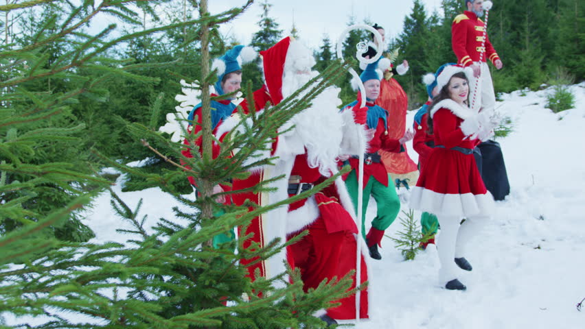Famous Art - theatre company Romania / Santa Claus and his helpers dancing | Shutterstock HD Video #1013539106