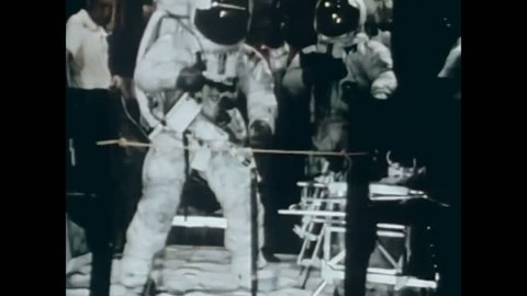 CIRCA 1971 - Tools and spacecraft endurance are tested at NASA'S Manned Spacecraft Center.