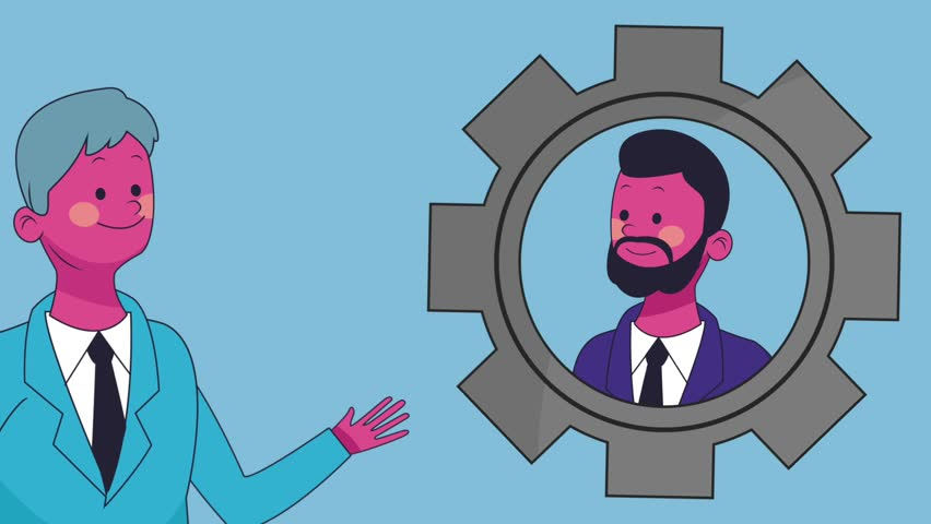 Executive businessman cartoon HD animation   Shutterstock HD Video #1013564366