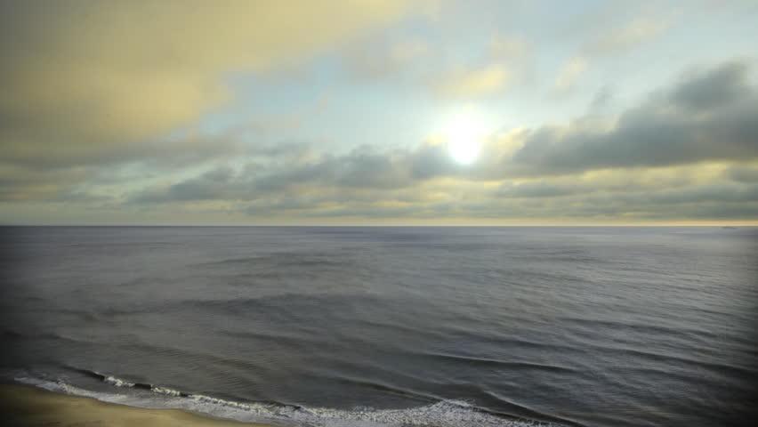 Time lapse of sunrise over the Atlantic Ocean from Virginia Beach ocean front