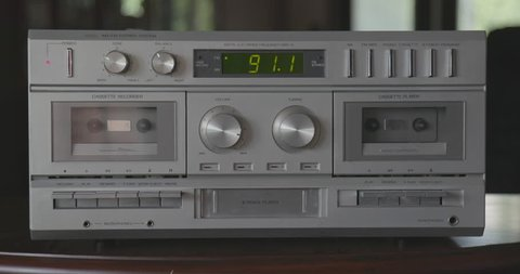 Playing 8-Track Tape on Vintage Silver Stereo System
