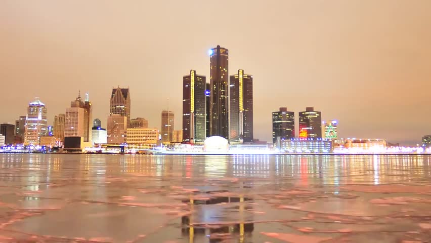View of the Night Detroit