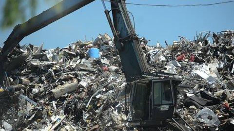 Crane at Scrap Yard