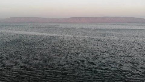 Flying over the Sea of Galilee