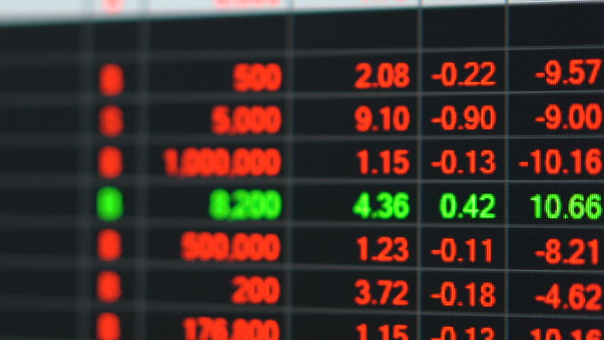 Economic crisis - Red stock market price board chart showing economic crisis of world stock. Bad economy and negative price down stock market situation. Traders are panic and selling their stock.   Shutterstock HD Video #1013835926