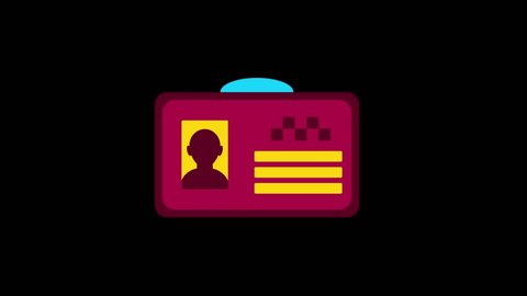 City icons animation with black png background.Taxi Licence icon animation with black png background.