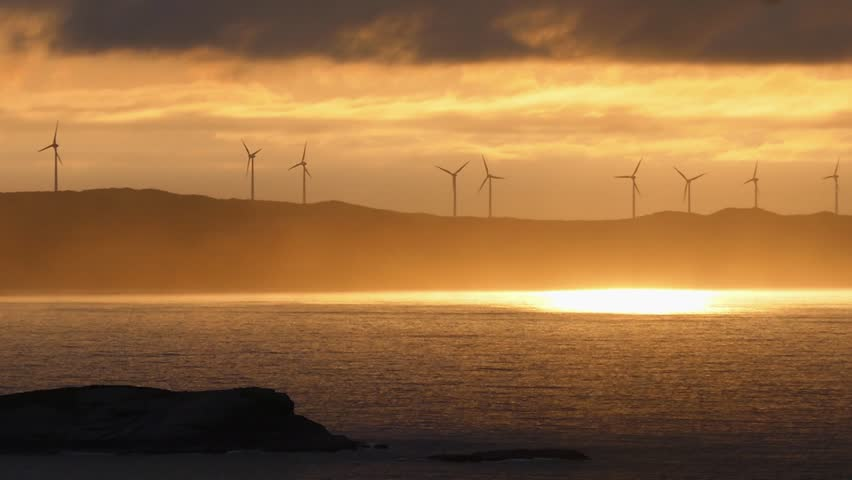 Sunset over the Albany Wind Farm, South Western Australia.