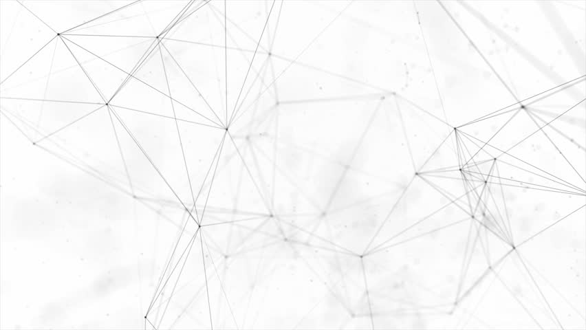 Clean White Abstract polygonal Digital Concept Geometrical Polygon Plexus Fractals Moving low poly Technologies Minimalist design element Seamless loop background for corporate business presentation | Shutterstock HD Video #1013908586