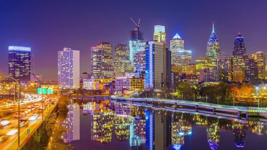 Philadelphia, Pennsylvania, USA skyline on the Schuylkill river. | Shutterstock HD Video #1013939456
