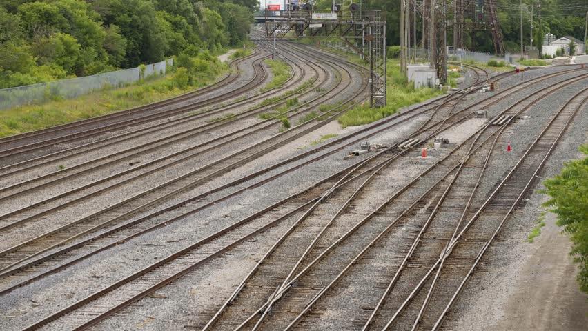 Railroad time lapse | Shutterstock HD Video #1014019736