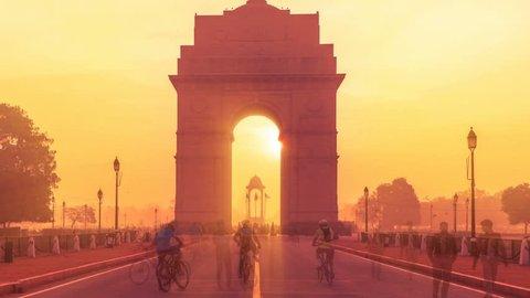 india gate timelaps india