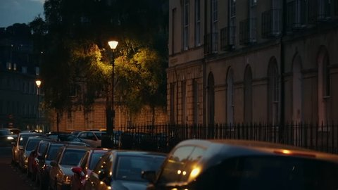 City of Bath, England - night in the city