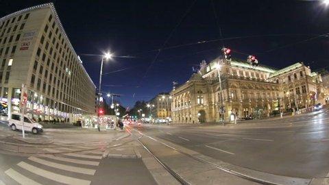 Vienna, Austria - April, 20, 2016: The Vienna State Opera is an Austria opera house and opera company based in Vienna, Austria. It was originally called the Vienna Court Opera.