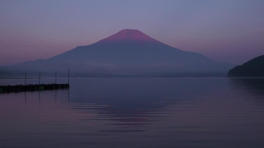 Mt.fuji in the early morning, lake yamanakako | Shutterstock HD Video #1014129596