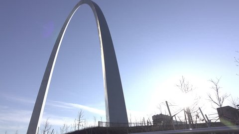 ST LOUIS, MISSOURI - MARCH 26: Famous St Louis Arch in downtown of city, Missouri, on March 26, 2017.
