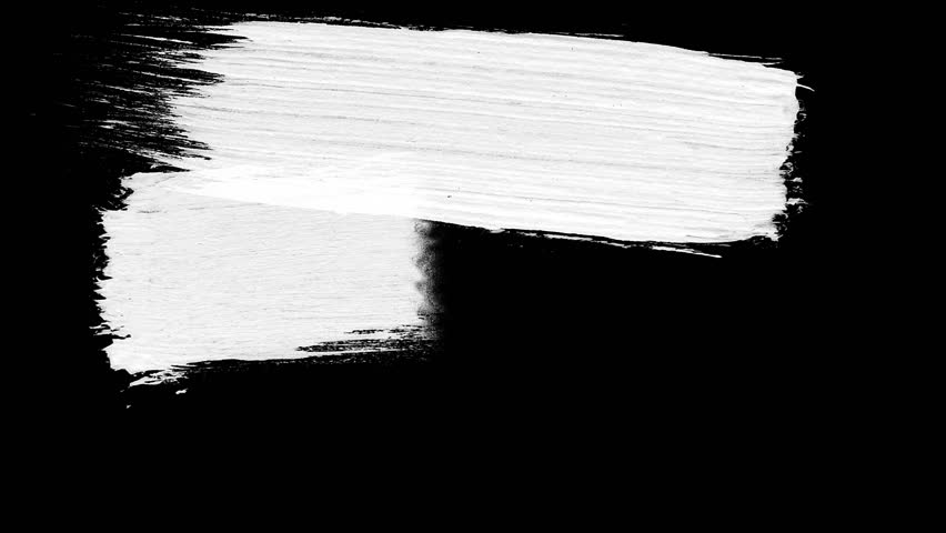 Abstract paint brush stroke black and white transition background, animation of paint splash. Brush stroke black and white transition background. Animation of paint splash | Shutterstock HD Video #1014215906