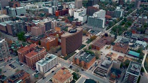 Aerial of downtown Ottawa