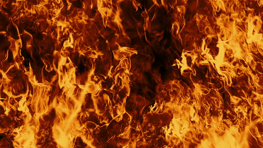 Looping Fire Flames. Perfect for composite the flames over your own footage. Fire wall in slow motion seamless loop isolated, Hell fire burning up, shooting with high speed camera.