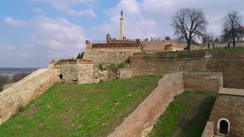 Aerial view of Belgrade fortress