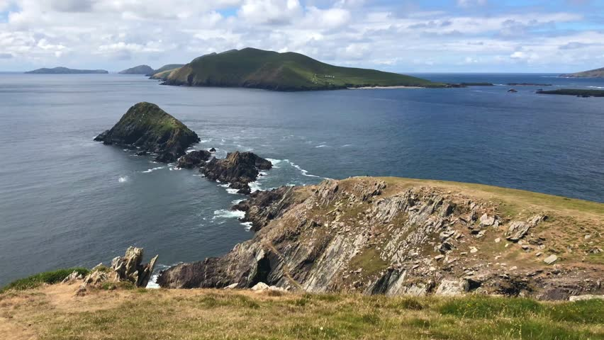 Dunmore Head at Slea Head Drive, one of Irelands most scenic routes, Dingle peninsula, Kerry, Ireland.