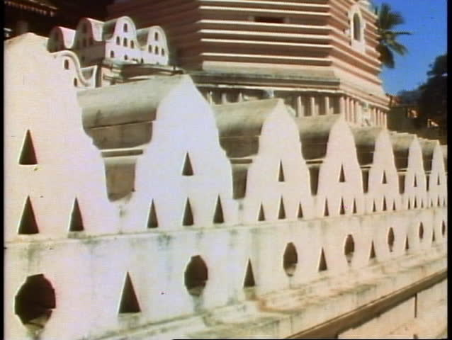 KANDY, SRI LANKA, 1982, The Temple of the Tooth, home of the tooth of Buddha | Shutterstock HD Video #1014457586