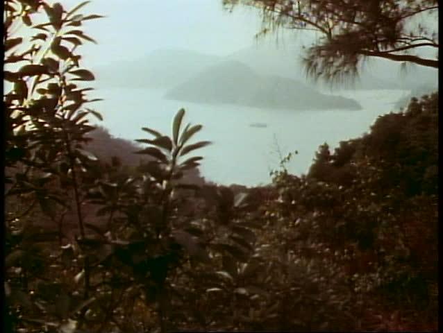HONG KONG, CHINA, 1982, The New Territories, misty, moody shot