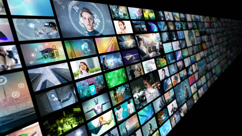 A lot of pictures in cyberspace.   Shutterstock HD Video #1014474266