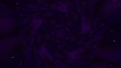 Wormhole straight through time and space, and millions of stars. Loop animation with interstellar travel through a blue force field with galaxies and stars. Warp straight ahead through this fiction