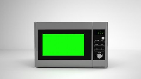 Microwave green screen mockup video