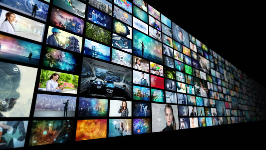 A lot of pictures in cyberspace.   Shutterstock HD Video #1014595406