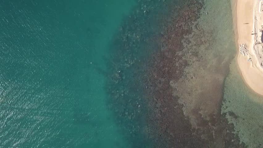 Island resort aerial footage. New Caledonia, Noumea.
