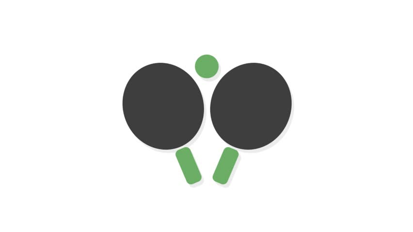 Sports icons animation with white  background.Table Tennis icon animation with white background.