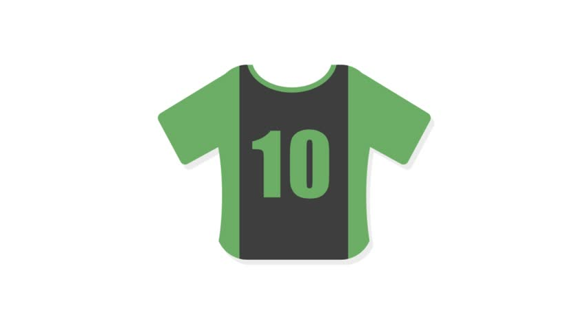 Sports icons animation with white  background.Shirt Player icon animation with white background.