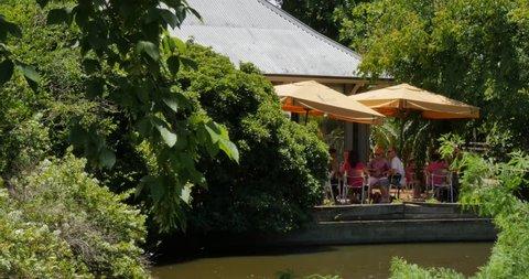 Cafe in Adelaide Botanical Gardens, Adelaide, South Australia, Australia