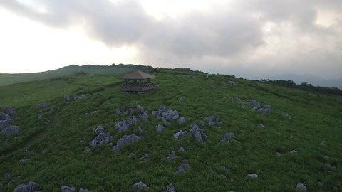 Shikoku Karst, Aerial shooting