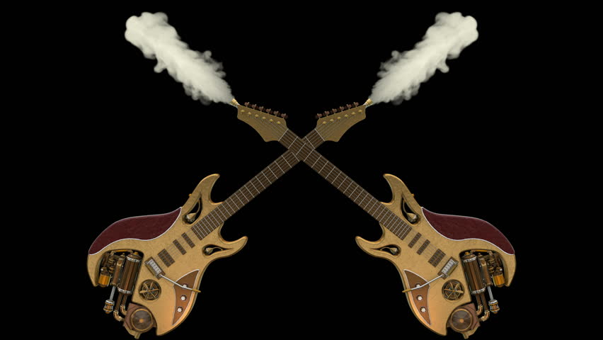 Two Smoking Steampunk Guitars Animation  Stock Footage Video (100%  Royalty-free) 1014841036 | Shutterstock