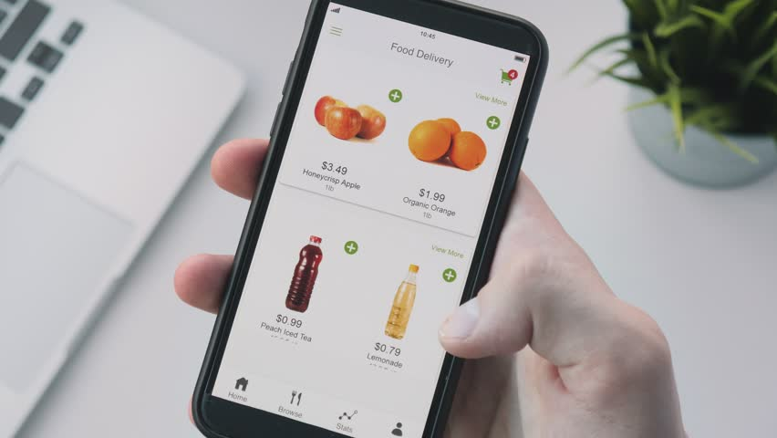 Ordering food online using smartphone app | Shutterstock HD Video #1014847696