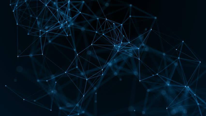 Plexus fantasy abstract technology. | Shutterstock HD Video #1014974026