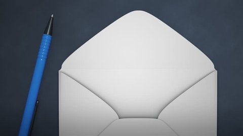 An envelope contact us animation