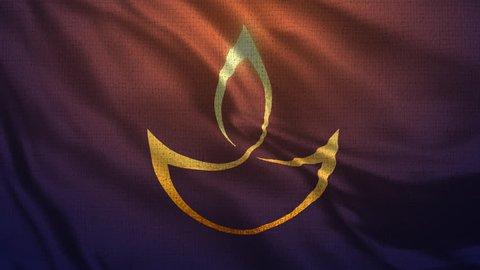 Happy Diwali Flag Loop 001 - 4K Diwali Festival Footage -  Diwali Background Colorful