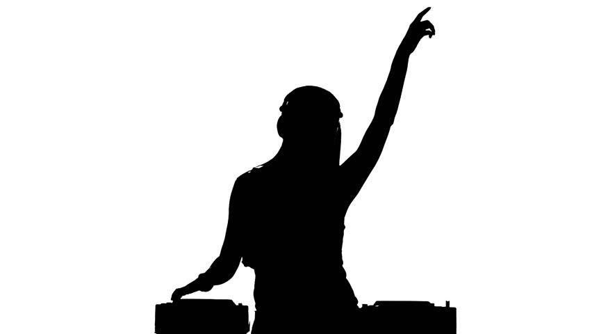Young, Sexy, Attractive Dj Girl In Sexy Clothes, Flipping ...