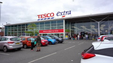 Hanley, Stoke on Trent, Staffordshire - 17th August 2018 - The huge Tesco Extra Store on the outskirts of the City centre of Hanley, Stoke on Trent, the Potteries