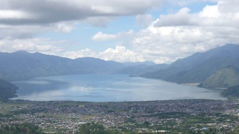 Takengon City Aceh Cloudy View From Pantan Terong Hill, Indonesia