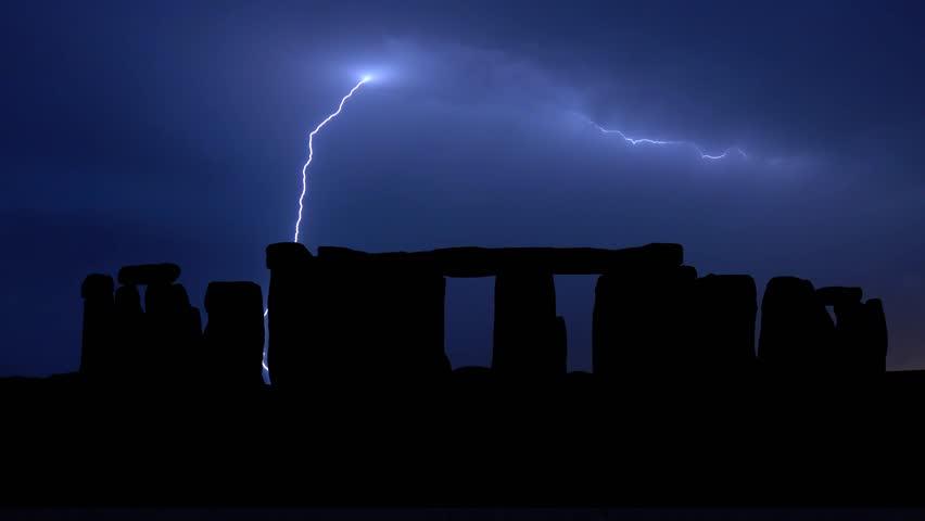 Stonehenge in Wiltshire, England, Thunderstorm Timelapse
