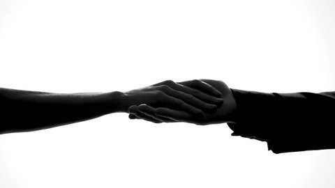 Male and female hands separating, relations breakup, divorce symbol, crisis